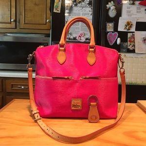 D&B Kelsey Pink Satchel Shoulderbag & Key Fab